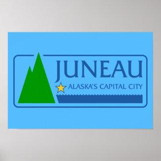 Bandera de Juneau, Alaska Póster