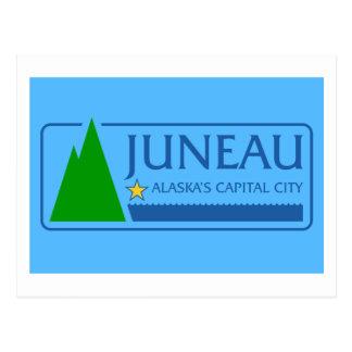 Bandera de Juneau, Alaska Tarjeta Postal