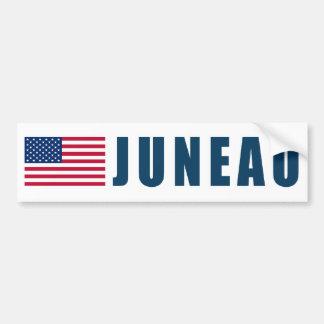 Bandera de Juneau los E.E.U.U. Pegatina Para Auto