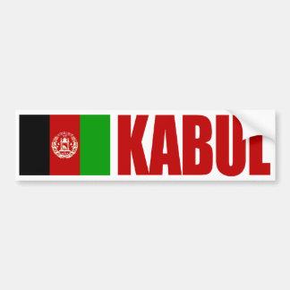 Bandera de Kabul, Afganistán Pegatina Para Auto