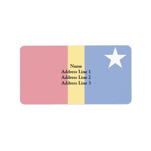 Bandera de Kano, Nigeria Etiqueta De Dirección