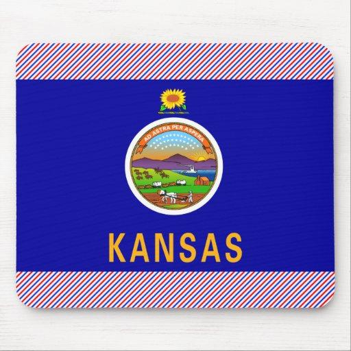 Bandera de Kansas Alfombrilla De Ratón