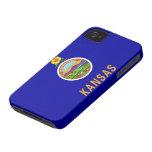 Bandera de Kansas Case-Mate iPhone 4 Cárcasa