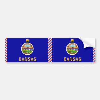 Bandera de Kansas Pegatina Para Auto