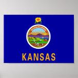 Bandera de Kansas Poster