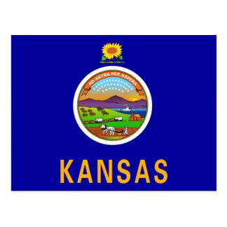 Bandera de Kansas Tarjeta Postal