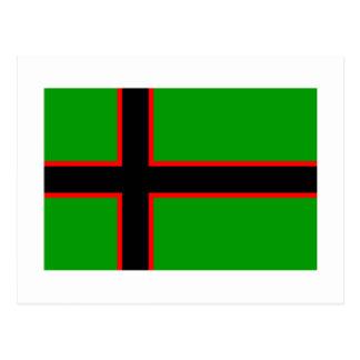 Bandera de Karelia Tarjeta Postal