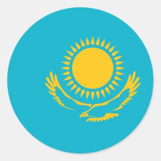 Bandera de Kazajistán, Kazajistán Pegatina Redonda