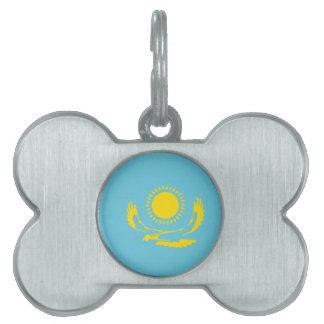 Bandera de Kazajistán Placas De Nombre De Mascota