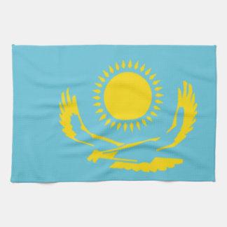 Bandera de Kazajistán Toallas De Cocina