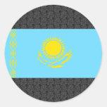 Bandera de Kazajistán Pegatina Redonda