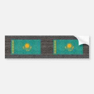 Bandera de Kazakhstani del modelo del vintage Pegatina De Parachoque