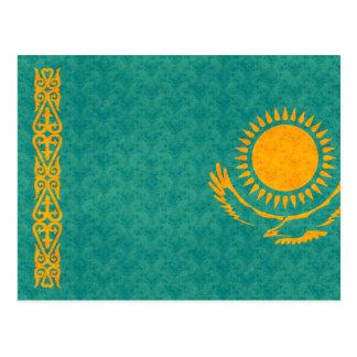 Bandera de Kazakhstani del modelo del vintage Postal