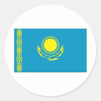 Bandera de Kazakstan Pegatina Redonda