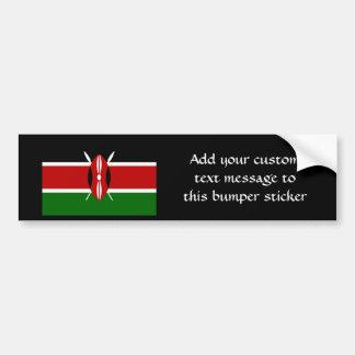 Bandera de Kenia África Etiqueta De Parachoque