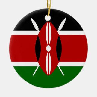 Bandera de Kenia África Ornamento Para Reyes Magos