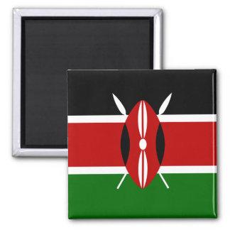 Bandera de Kenia África Imán Cuadrado