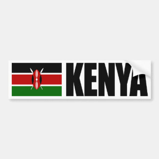 Bandera de Kenia Pegatina De Parachoque