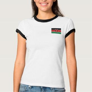 Bandera de Kenia + Camiseta del mapa Polera