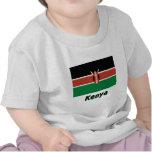 Bandera de Kenia con nombre Camisetas