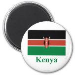 Bandera de Kenia con nombre Imán De Frigorifico