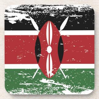 Bandera de Kenia del Grunge Posavaso