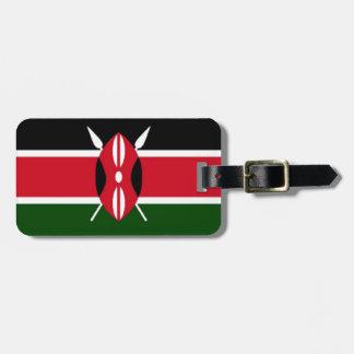 Bandera de Kenia Etiqueta De Maleta