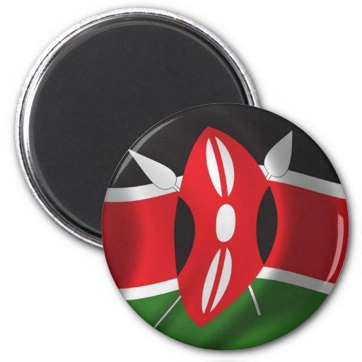 Bandera de Kenia Imán De Frigorifico