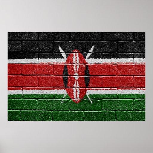 Bandera de Kenia Impresiones