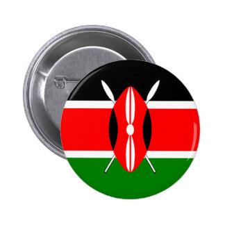 Bandera de Kenia Pin Redondo De 2 Pulgadas