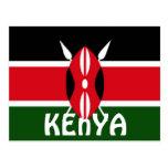 Bandera de Kenia Postales