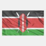 Bandera de Kenia Rectangular Pegatina