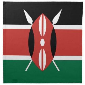 Bandera de Kenia Servilleta De Papel
