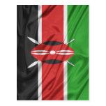 Bandera de Kenia Tarjeta Postal