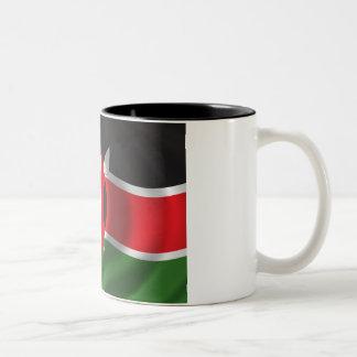 Bandera de Kenia Taza Dos Tonos