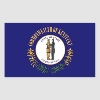 Bandera de Kentucky Pegatina Rectangular