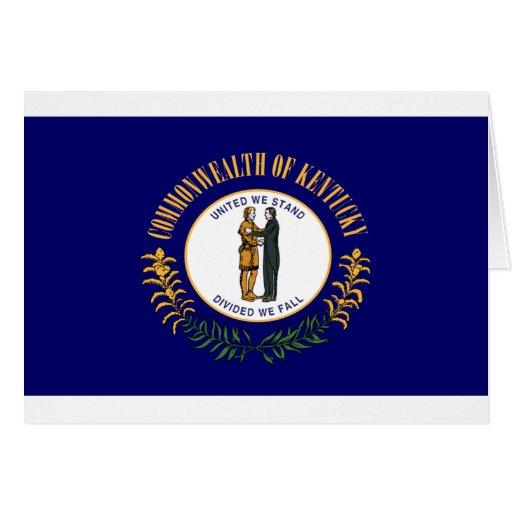 Bandera de Kentucky Tarjeta De Felicitación