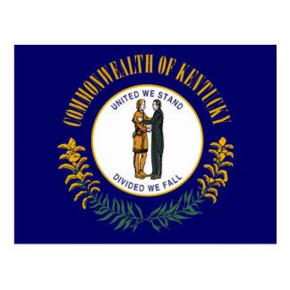 Bandera de Kentucky Tarjeta Postal