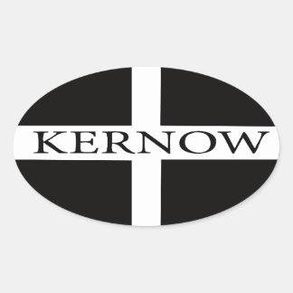Bandera de Kernow (Cornualles) Pegatina De Óval Personalizadas