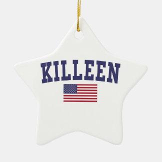 Bandera de Kingsport los E.E.U.U. Adorno Navideño De Cerámica En Forma De Estrella