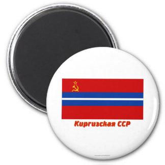 Bandera de Kirghiz SSR con nombre Imán De Frigorifico