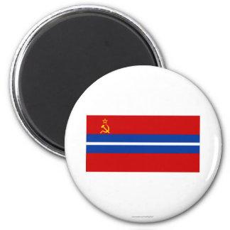 Bandera de Kirghiz SSR Imanes De Nevera