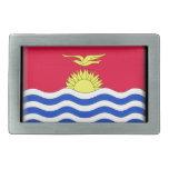 Bandera de Kiribati Hebilla De Cinturon Rectangular