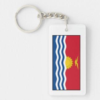 Bandera de Kiribati Llavero Rectangular Acrílico A Doble Cara
