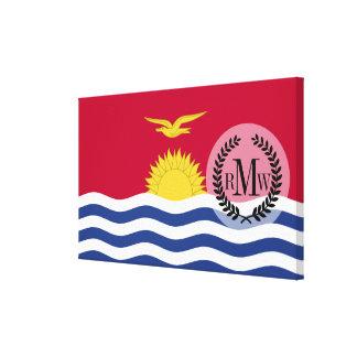 Bandera de Kiribati Lona Envuelta Para Galerías