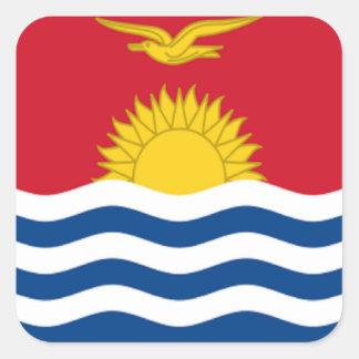 Bandera de Kiribati Calcomanía Cuadrada