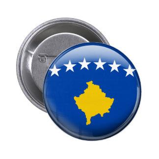 Bandera de Kosovo Pin Redondo De 2 Pulgadas