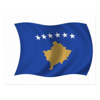 Bandera de Kosovo Tarjetas Postales