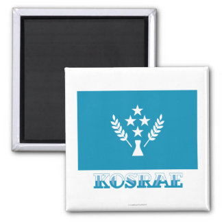 Bandera de Kosrae, con nombre Imán Cuadrado