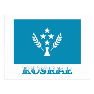 Bandera de Kosrae, con nombre Tarjetas Postales